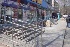 Оформаление входной группы магазина. г. Тюмень